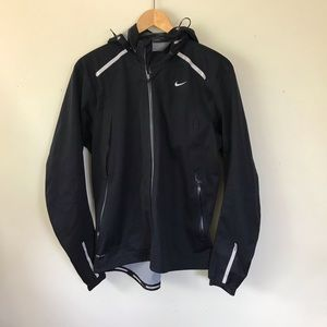 Nike Storm-Fit Black Hooded Running Jacket